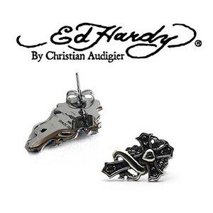 Ed Hardy(エドハーディー) アクセサリー ピアス/CROSS EARRING クロス/EHE36SS - 拡大画像
