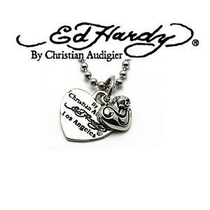 Ed Hardy(エドハーディー) アクセサリー ネックレス(ペンダント) HEART/SKULL CHARM/EHP13SRSS - 拡大画像