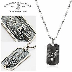 Christian Audigier クリスチャンオードジェー ネックレス ペンダントGrenade DOGTAG ドッグタグ 【P031】 h02