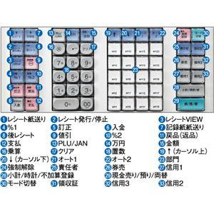 【送料無料】【業務用】シャープ(SHARP) レジスター 本体 XE-A407ホワイト【ロールペーパー5巻セット】