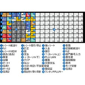 【送料無料】【業務用】シャープ(SHARP) レジスター 本体 XE-A417ブラック【ロールペーパー20巻セット】