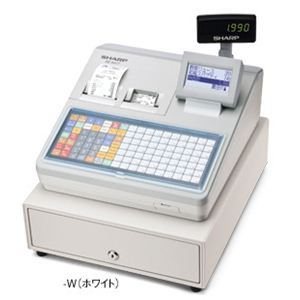シャープ(SHARP) レジスター 本体 XE-A417ホワイト【ロールペーパー5巻セット】