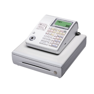 カシオ レジスター TE-300 ホワイト ロールペーパー10巻、PC接続ケーブルパターンBセット - 拡大画像