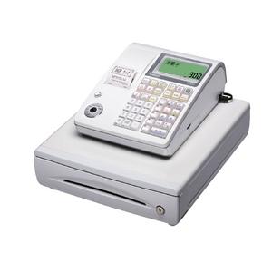 カシオ レジスター TE-300 ホワイト ロールペーパー20巻、PC接続ケーブルパターンBセット - 拡大画像