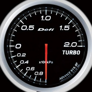 Defi-Link Meter ADVANCE BF (デフィー リンクメーター アドバンスBF) ターボ計(MAX200kPa)φ60 ホワイトモデル