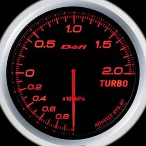 Defi-Link Meter ADVANCE BF (デフィー リンクメーター アドバンスBF) ターボ計(MAX200kPa)φ60 アンバーレッドモデル