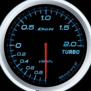 Defi-Link Meter ADVANCE BF (デフィー リンクメーター アドバンスBF) ターボ計(MAX200kPa)φ60 ブルーモデル