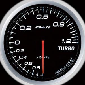 Defi-Link Meter ADVANCE BF (デフィー リンクメーター アドバンスBF) ターボ計(MAX120kPa)φ60 ホワイトモデル