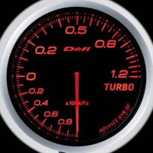 Defi-Link Meter ADVANCE BF (デフィー リンクメーター アドバンスBF) ターボ計(MAX120kPa)φ60 アンバーレッドモデル
