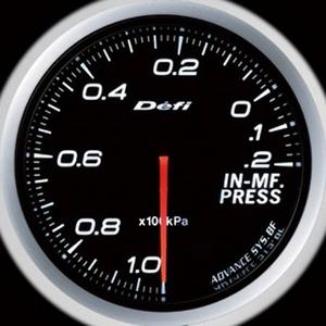 Defi-Link Meter ADVANCE BF (デフィー リンクメーター アドバンスBF) インマニ計 60φ ホワイトモデル