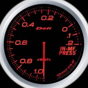 Defi-Link Meter ADVANCE BF (デフィー リンクメーター アドバンスBF) インマニ計 60φ アンバーレッドモデル
