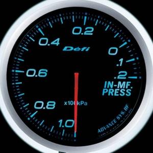 Defi-Link Meter ADVANCE BF (デフィー リンクメーター アドバンスBF) インマニ計 60φ ブルーモデル