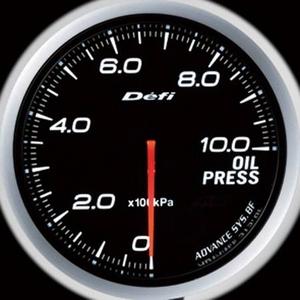 Defi-Link Meter ADVANCE BF (デフィー リンクメーター アドバンスBF) 油圧計 60φ ホワイトモデル