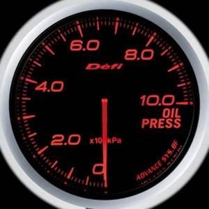 Defi-Link Meter ADVANCE BF (デフィー リンクメーター アドバンスBF) 油圧計 60φ アンバーレッドモデル