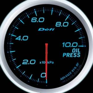 Defi-Link Meter ADVANCE BF (デフィー リンクメーター アドバンスBF) 油圧計 60φ ブルーモデル