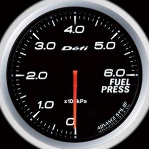 Defi-Link Meter ADVANCE BF (デフィー リンクメーター アドバンスBF) 燃圧計 60φ ホワイトモデル