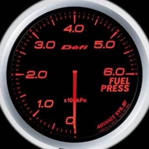Defi-Link Meter ADVANCE BF (デフィー リンクメーター アドバンスBF) 燃圧計 60φ アンバーレッドモデル