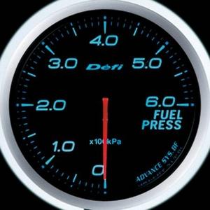Defi-Link Meter ADVANCE BF (デフィー リンクメーター アドバンスBF) 燃圧計 60φ ブルーモデル
