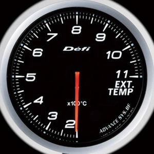 Defi-Link Meter ADVANCE BF (デフィー リンクメーター アドバンスBF) 排気温度計 60φ ホワイトモデル
