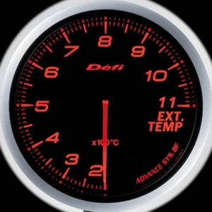 Defi-Link Meter ADVANCE BF (デフィー リンクメーター アドバンスBF) 排気温度計 60φ アンバーレッドモデル