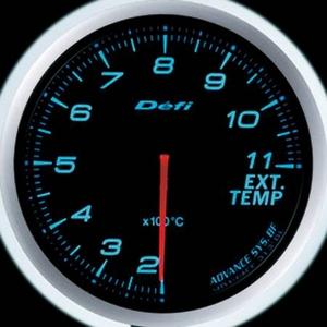 Defi-Link Meter ADVANCE BF (デフィー リンクメーター アドバンスBF) 排気温度計 60φ ブルーモデル