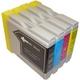 【Brother対応】LC10 互換インクカートリッジ4色パック ブラック(20ml)/シアン/マゼンタ/イエロー(各15ml) 【2セット】 - 縮小画像2