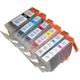 【Canon対応】BCI-3/3e/5/6/8-BK/C/M/Y/PC/PM (BK:ICチップ付) 互換インクカートリッジ 6色パック 【2セット】 - 縮小画像2