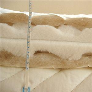特許立体凹凸ドリームカット中芯入りアルパカ毛使用敷布団 シングル