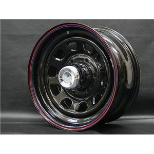 DAYTONA(デイトナ) 自動車用ホイール BLACK 15インチ×7J +12 6穴 4本(1台分)