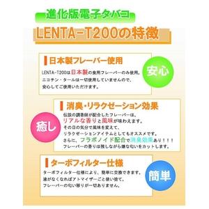 フラボノイド配合で口臭予防も!日本製フレーバーの電子タバコ『LENTA-T200』スタートキット(本体)【ターボフィルター(メンソール)セット】