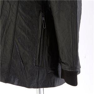 ファー付きラムレザージャケット パーカージャケット L h03