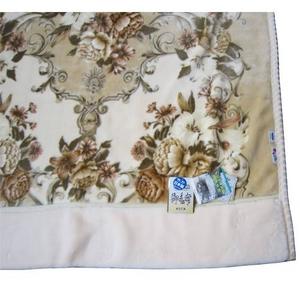 マイナスイオン温泉毛布KW21022Wメアリーサイズ180x210cmベージュ