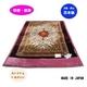 マイナスイオン温泉毛布KW21021ジェニファーサイズ140x200cm ワイン - 縮小画像1