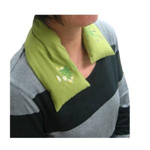 疲れた肩や首に…ラベンダーの香り ハーブショルダーピロー サックス 日本製 - 拡大画像