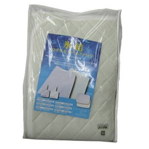 冷感コールド敷きパッド氷結シリーズ ロイヤルコールドパッド セミダブルサイズ パープル