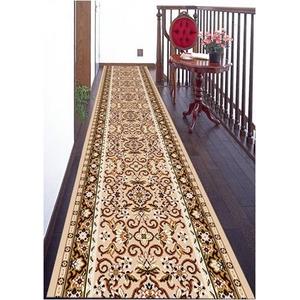 ウィルトン織廊下敷カーペット 80cmx440cm ベージュの詳細を見る