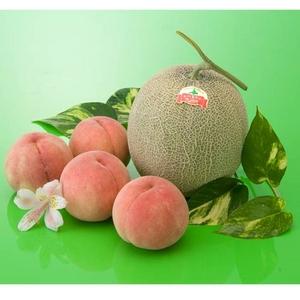赤肉メロンと桃の詰め合わせ - 拡大画像