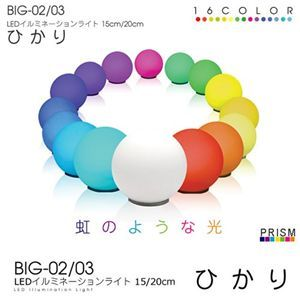 PRISM(プリズム) LEDイルミネーションライト 20cm ひかり BIG-03