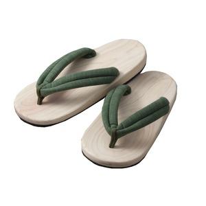 高級檜サンダル(グリーン) h01