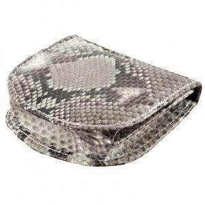 本革パイソン馬蹄型財布