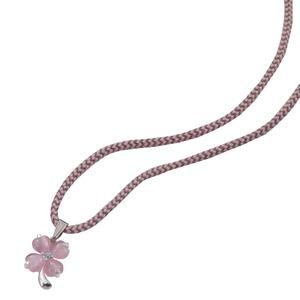 幸せのカラフルクローバーネックレス(ピンク)ネックレス同色1本セット