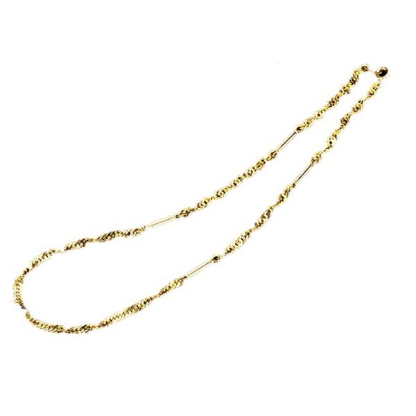 スクリューファッション磁気ネックレス ゴールド