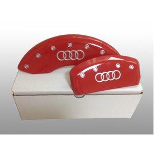 アルミ製 アウディ AudiTT用 ブレーキカバー アウディ Audiロゴ レッド