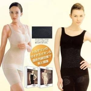 スリミングスーツ ブラック フリーサイズ - 拡大画像