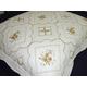 刺繍(ししゅう)キルト クッション(羽根クッション中材付き) 45X45cm【正方形】