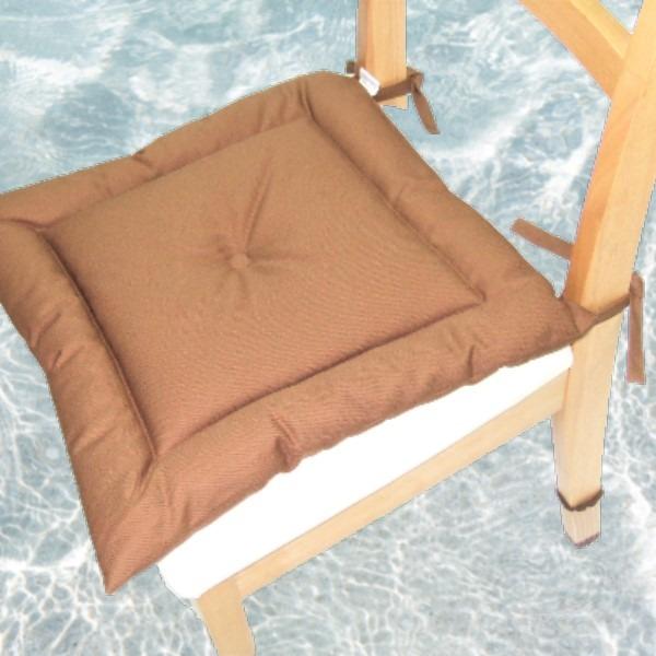 薄型シートクッション/座布団 【ブラウン】 紐付き 洗える 日本製 『オックス』