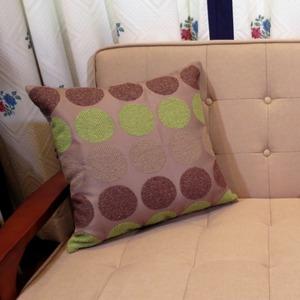 シュニール 水玉 クッションカバー 45×45cm グリーン