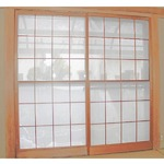 【2枚入り】 100x200cm 障子に貼るレース 花粉をキャッチし適度に光を通す 日本製の画像
