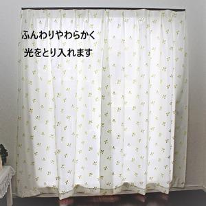【2枚組】 断熱・保温パイルミラーレースカーテン (100×108cm)日本製