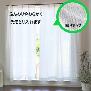 【2枚組】 防炎加工断熱保温プライバシーを守るスーパーミラーレースカーテン(100×228cm) 日本製